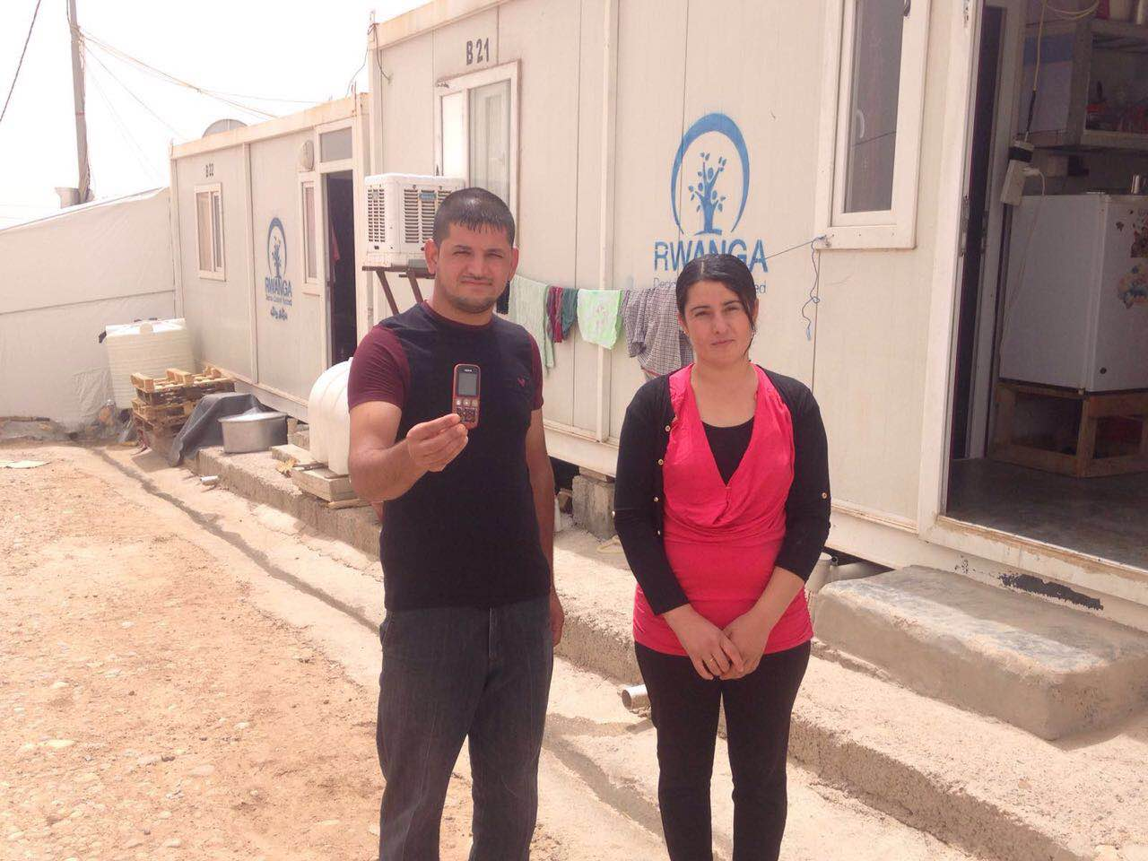 Khalaf Kalo Khalf's mobile phone helped him and his family to survive on the run. Photo: Malteser International