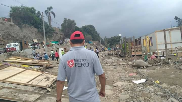 Staff from Malteser Peru are working to help people affected by the devastating rainfall. Photo: Malteser Peru