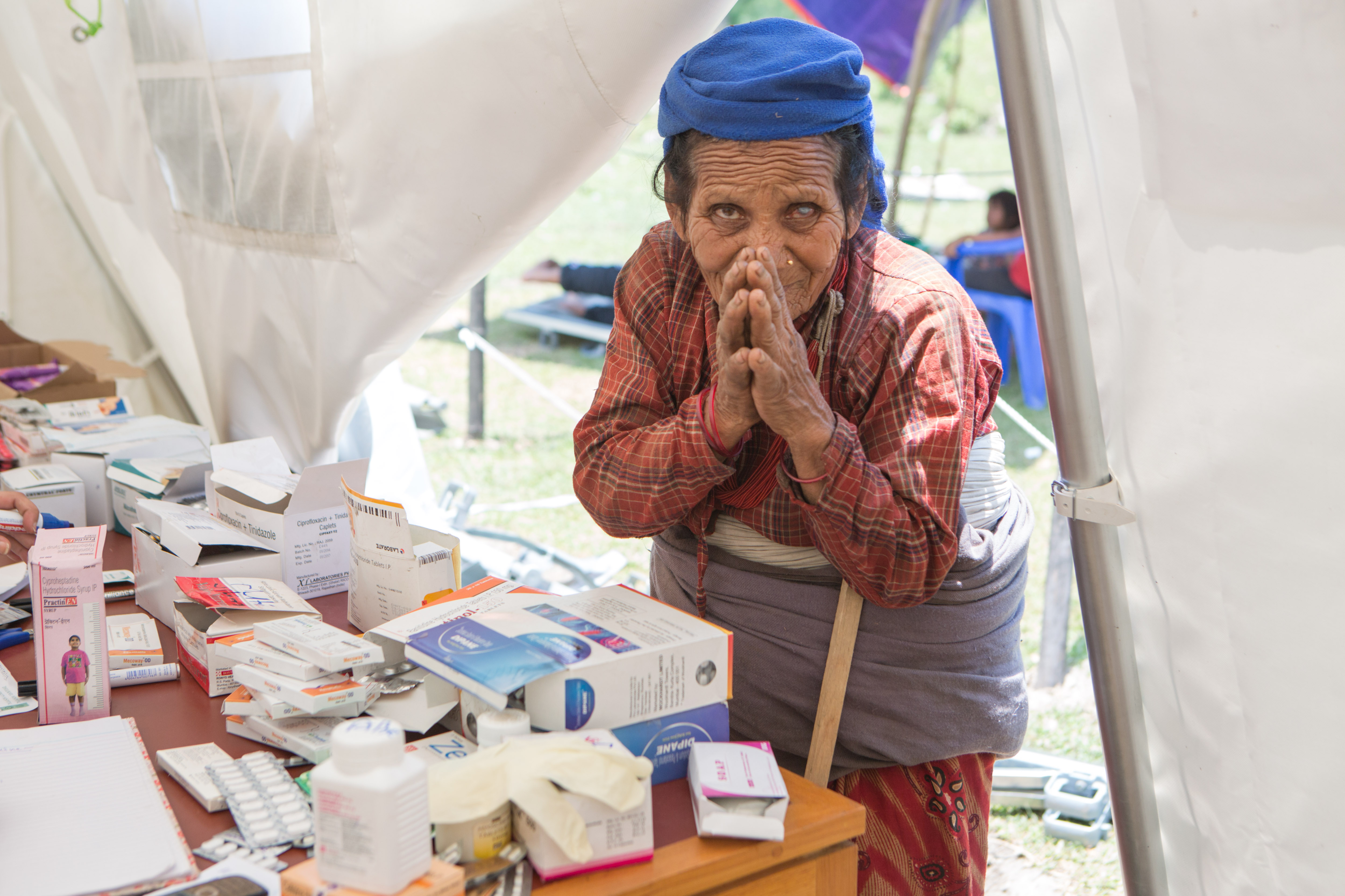 The Malteser International field hospital at Lamosanghu provided treatment to almost 9,000 patients. Credit: Jana Asenbrennerova
