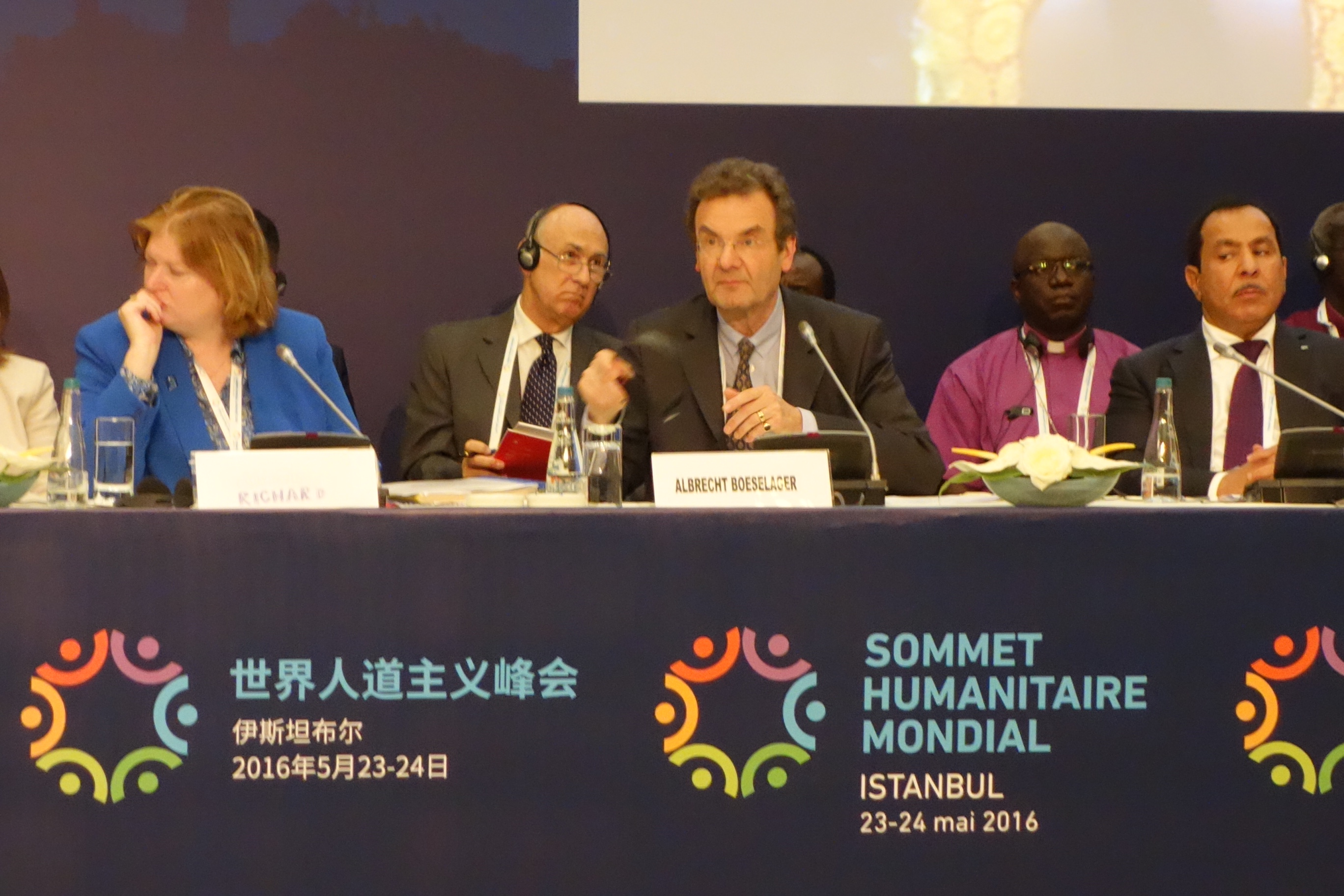 Albrecht von Boselager, Grand Chancellor of the Order of Malta at the World Humanitarian Summit.