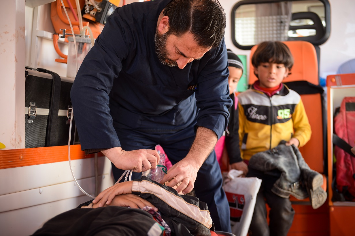 Malteser International operates two mobile medical centers at the border, in cooperation with its Syrian partner.