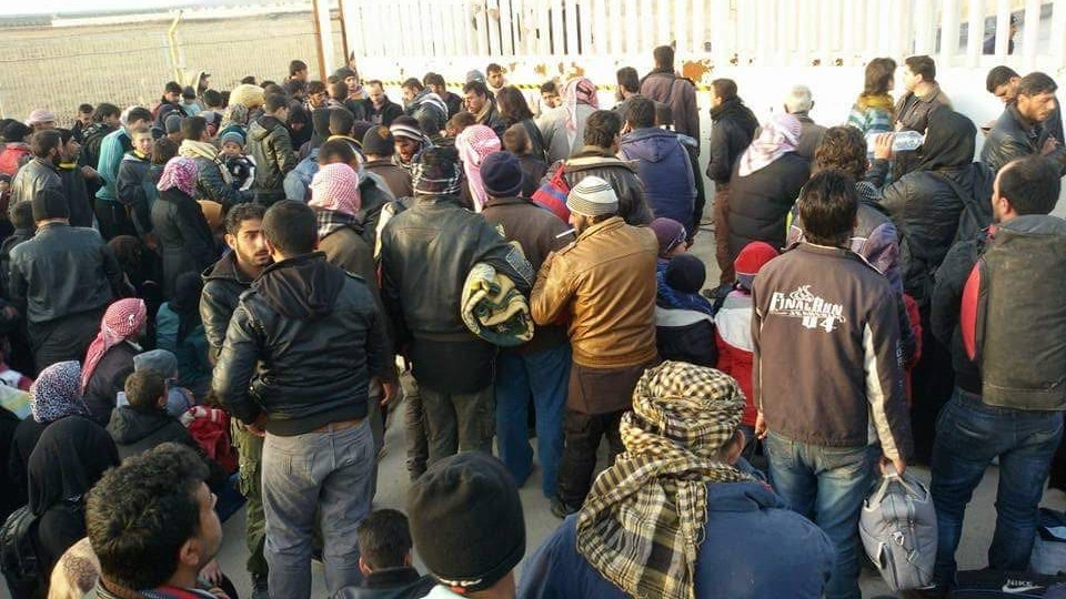 Tens of thousands have fled towards the Turkish border from the Aleppo city and region.