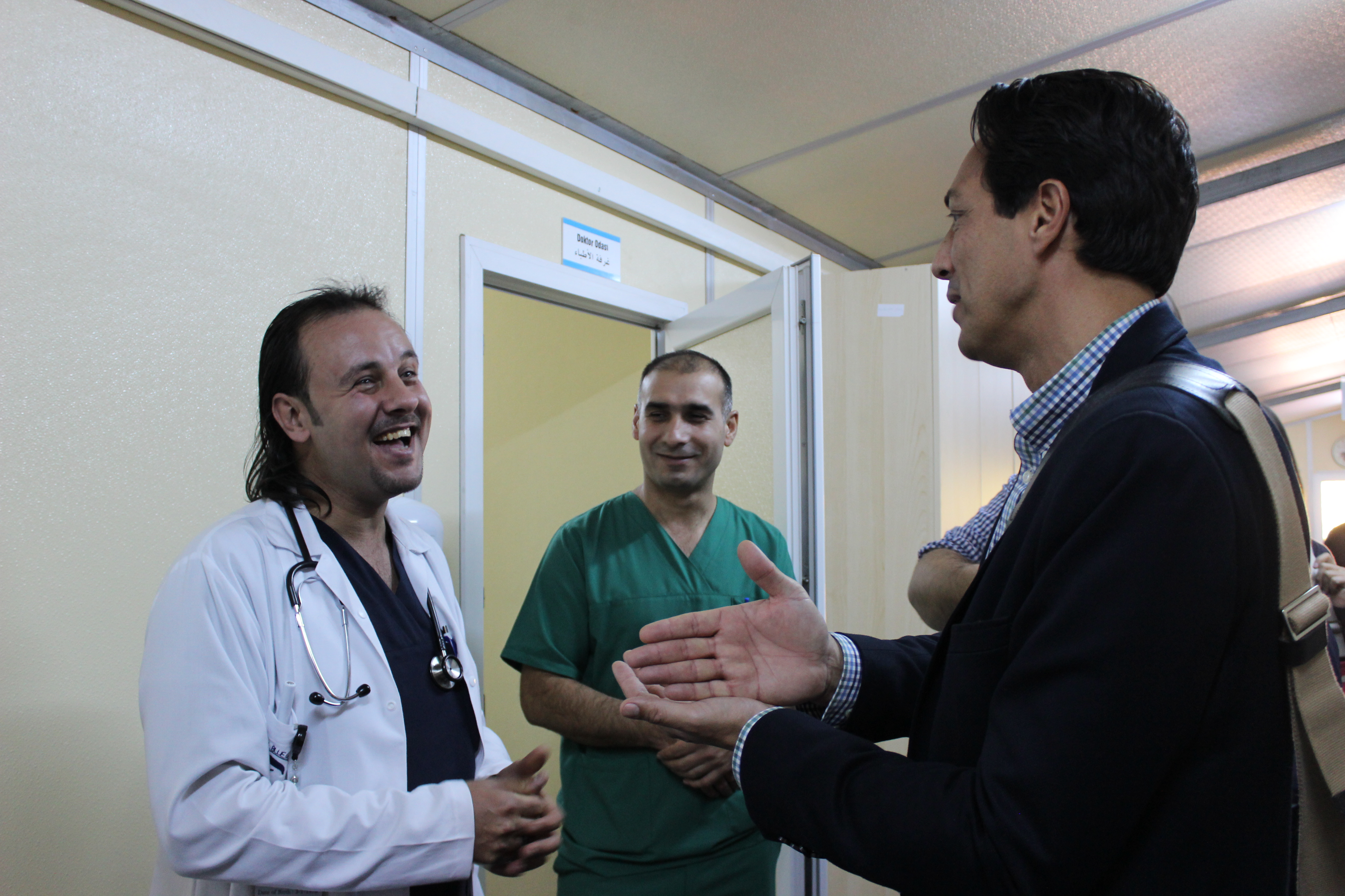 Vice Secretary General, Sid Peruvemba, visits a Malteser International medical facility for Syrian refugees in Kilis, Turkey.