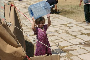 In Iraq, refugees are in urgent need of clean drinking water and basic health care.