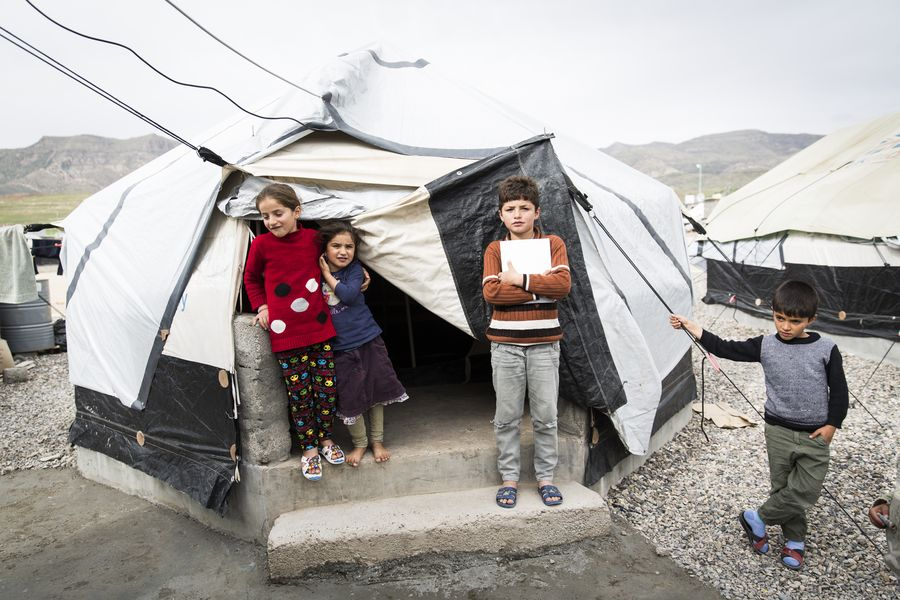 Young children living in the Bersevi II camp. Photo: Carmen Wolf