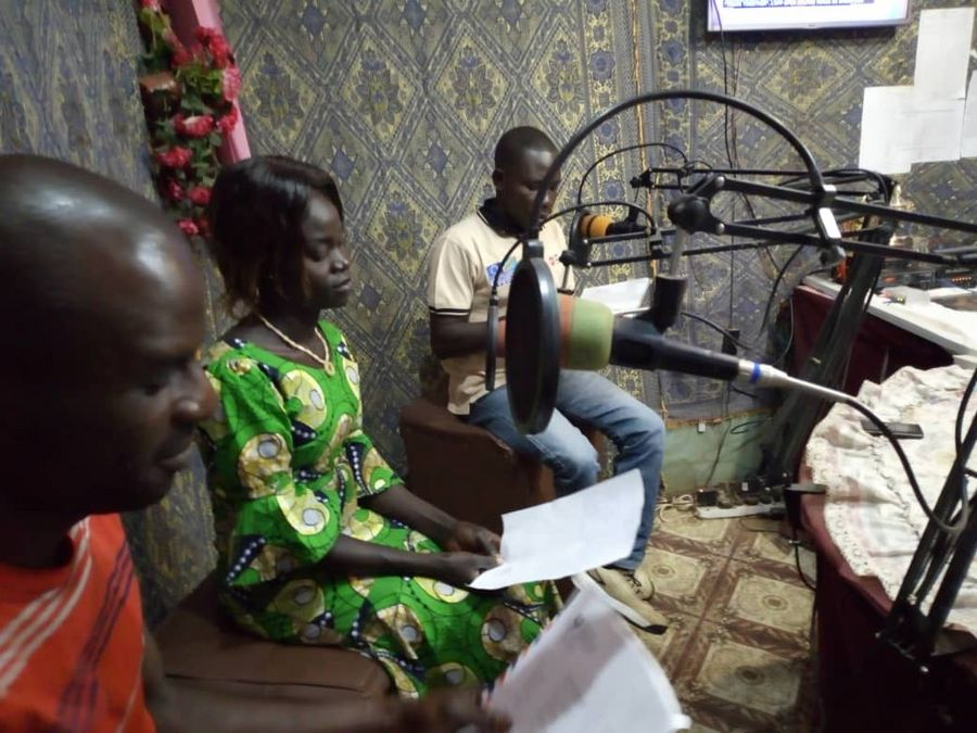 P-FIM Participants during interactive radio show