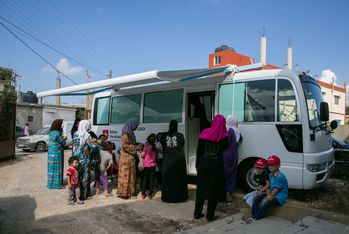 The mobile clinic brings health care to people in remote areas in northern Lebanon.