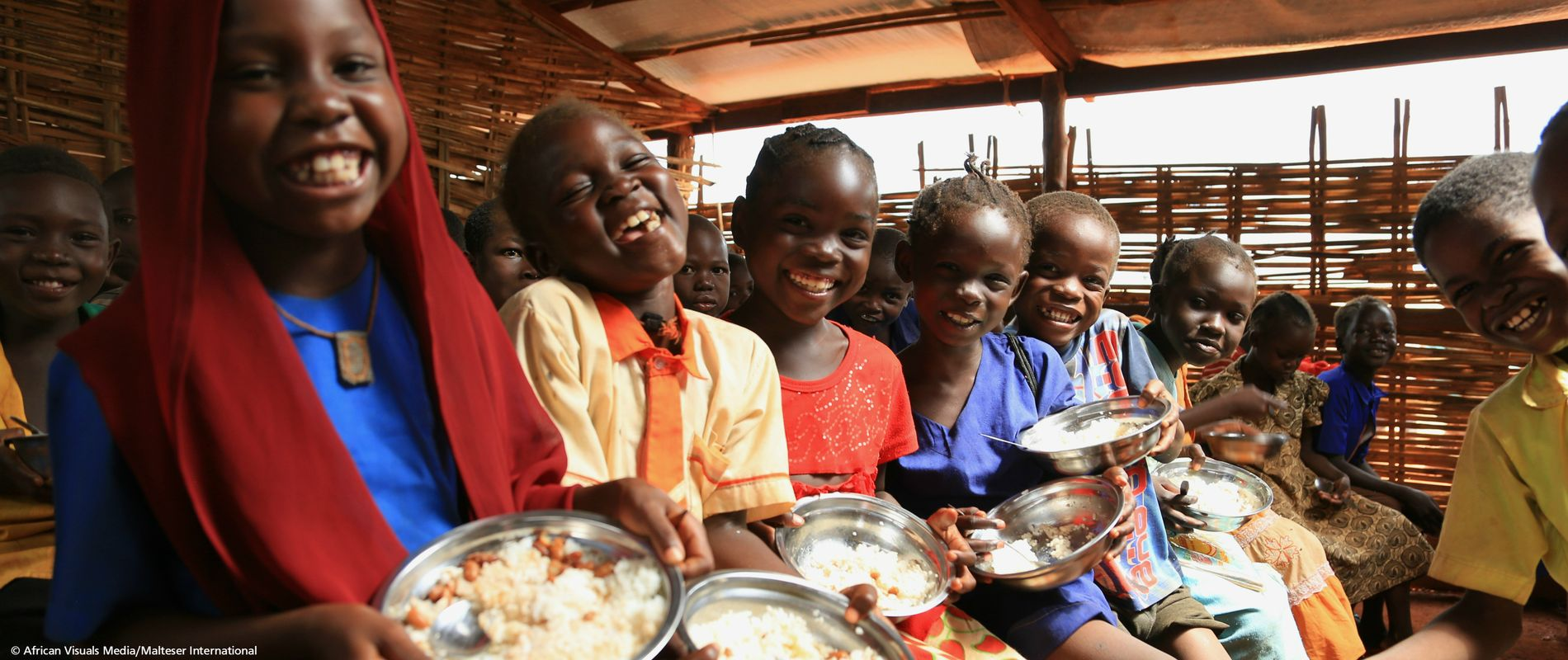 Donate warm meals for children in South Sudan