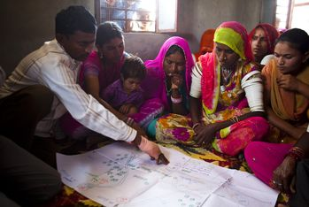 Training of girls and women in household and community based decision-making processes. (Photo: Carmen Wolf)