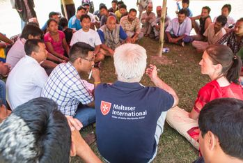 Malteser International runs a field hospital in collaboration with the Dhulikel University Hospital. Photo: Asenbrennerova