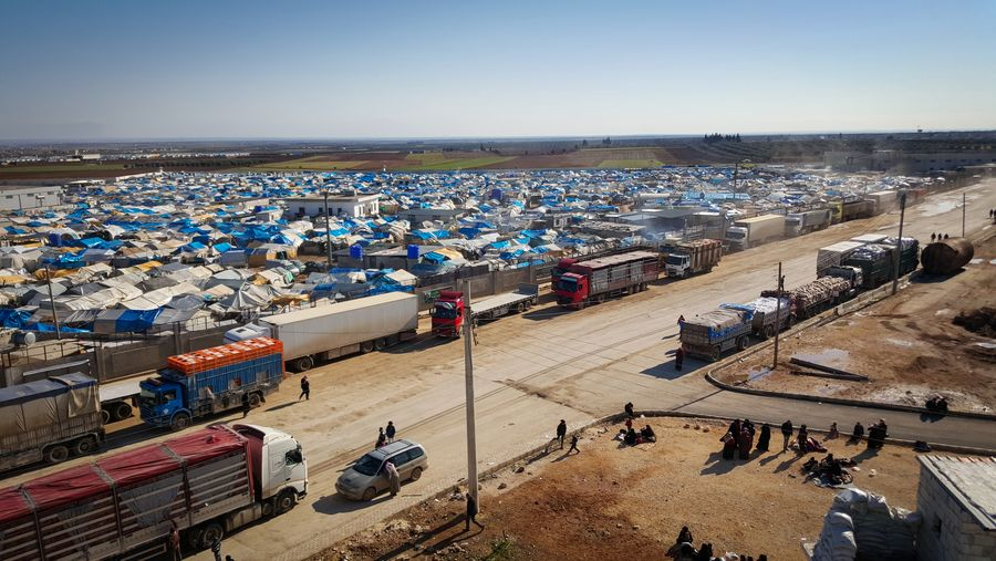 View over a refugee camp at the border between Turkey and Syria. Photo: Malteser International