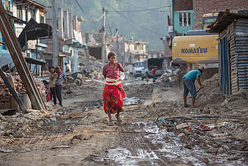 The damage caused by the April and May 2015 earthquakes in Nepal was devastating. Photo: Jana Asenbrennerova