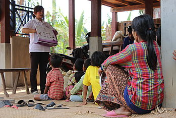 Roun village: our staff organized a nutrition awareness session and a cooking demonstration to improve awareness and prevent malnutrition in Cambodia.
