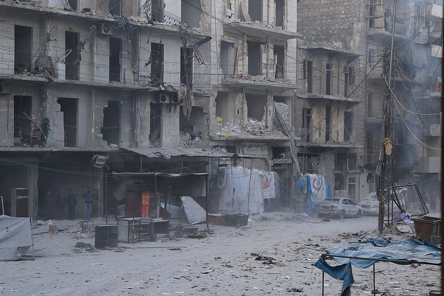 Destruction in Aleppo. Photo: Melad Shihaby