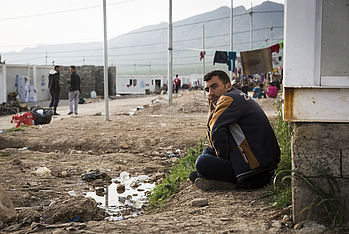 Camp de réfugiés à Kadia. Photo: Carmen Wolf