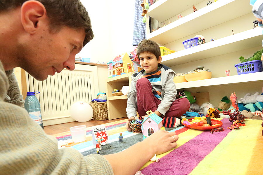 Specially equipped therapy rooms are also available for work with children. Photo: Pavlo Titko/Malteser Ukraine