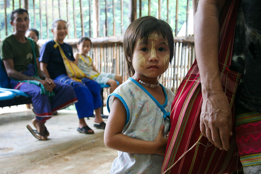 A refugee child from Myanmar in one of the Malteser International supported camps in Thailand.
