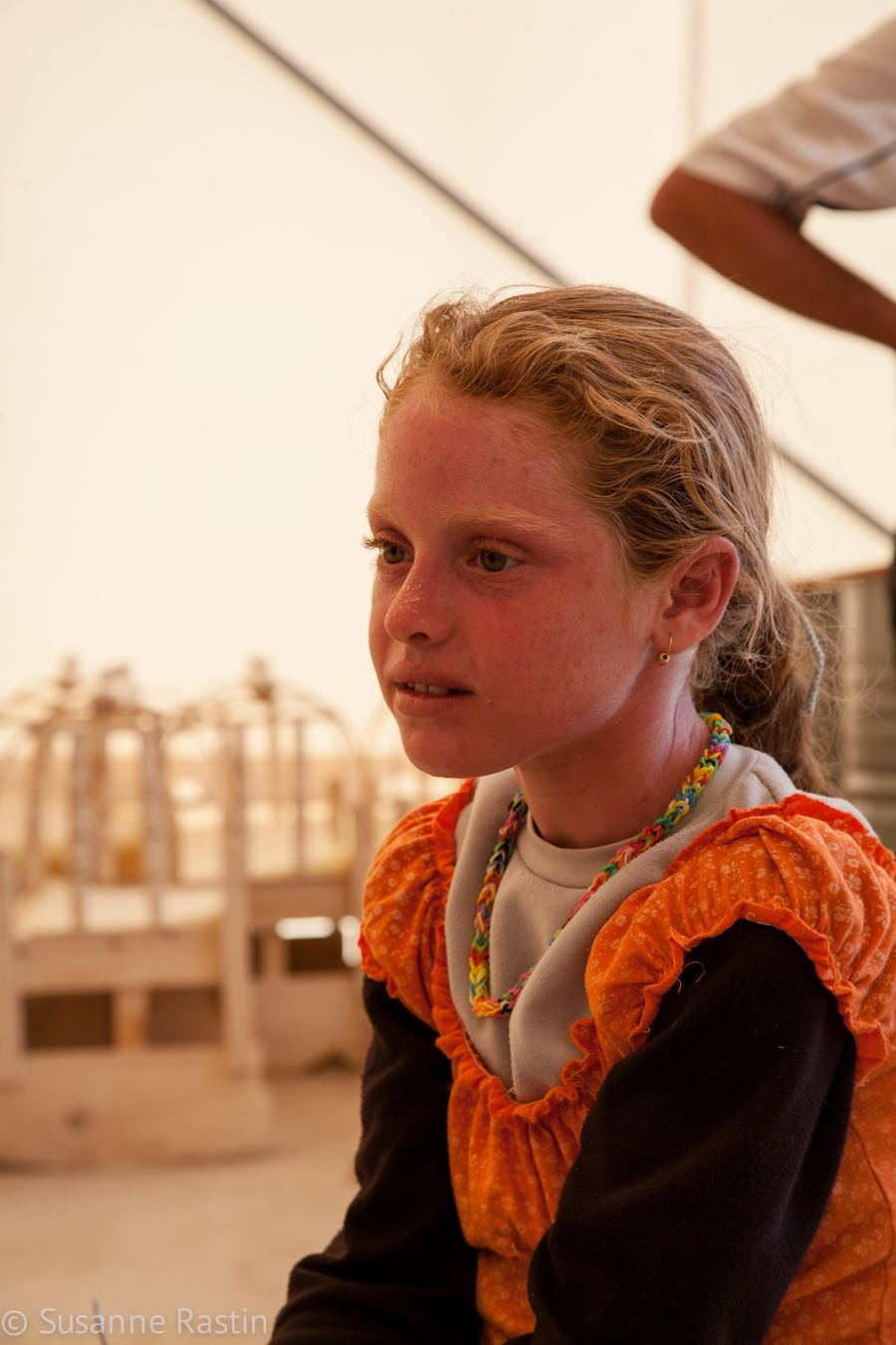 Ten-year-old Zina has lived with her family in the Bersevi II refugee camp for seven months.